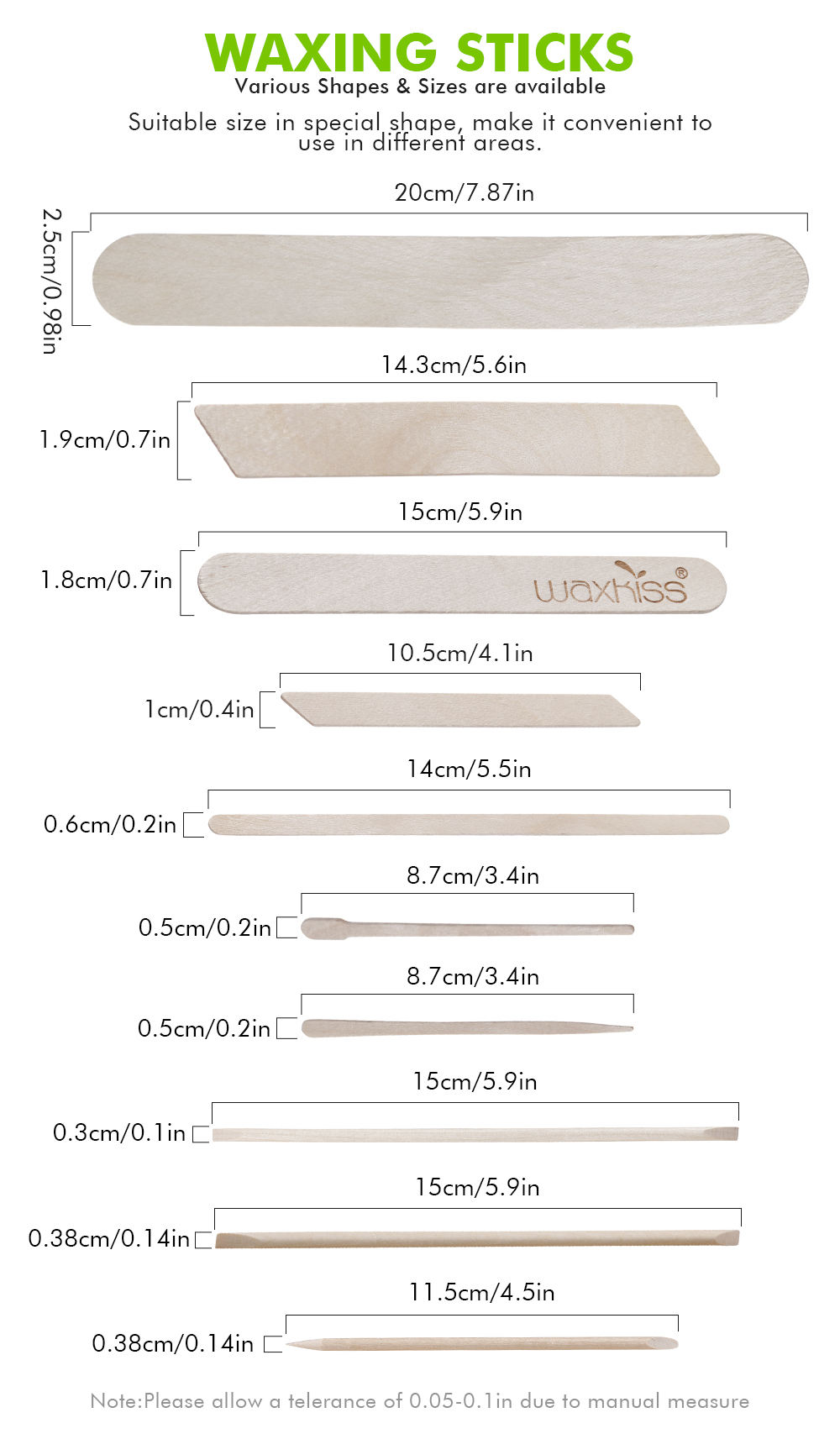 Slim Wooden Waxing Spatula SP-08