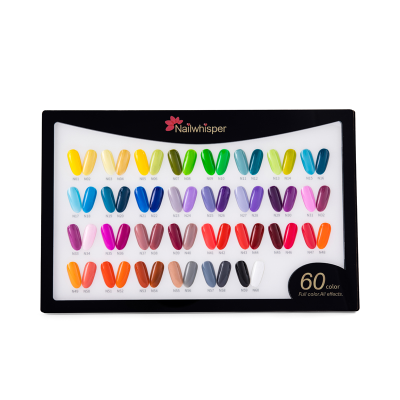 3-step with different color gel nail polish kit