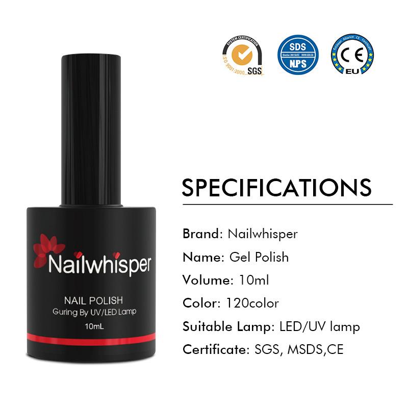 10ml color gel nail polish oem